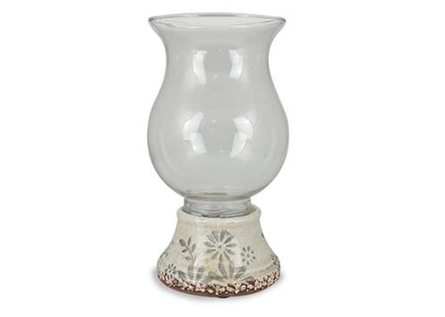 CERAMIC HURRICANE LAMP $20