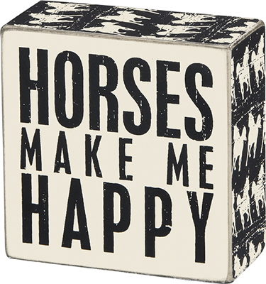 HORSES' BOX SIGN $9
