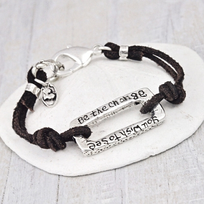 'BE THE CHANGE' BRACELET $70