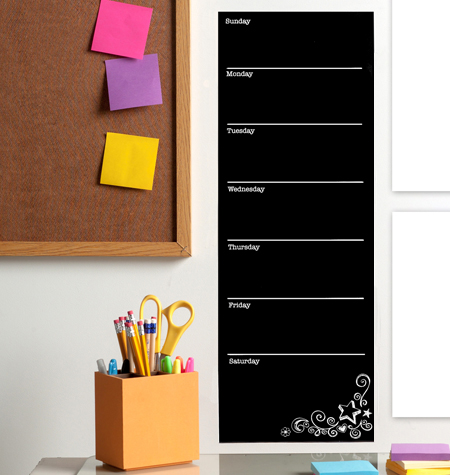 WEEKLY CALENDAR VINYL DECALS $10