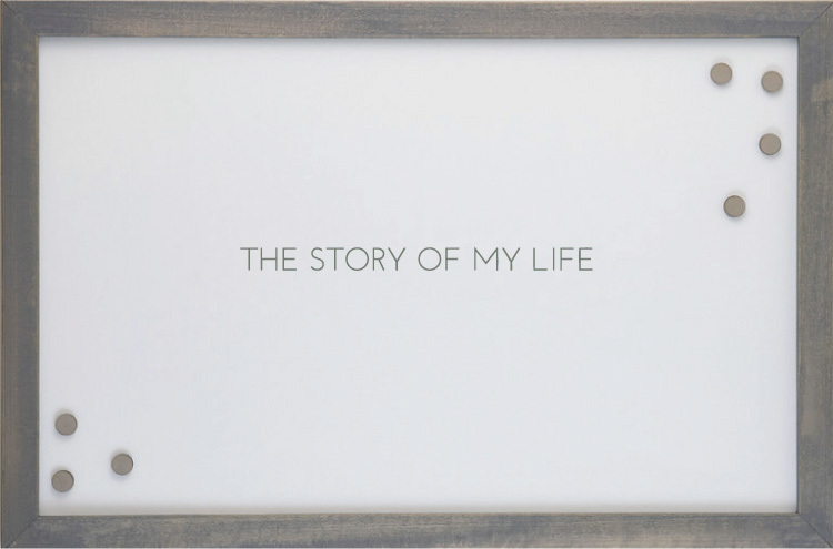 THE STORY OF MY LIFE' MAGNET BOARD $80