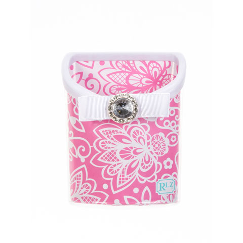PINK LACE MAGNETIC PENCIL BIN $6