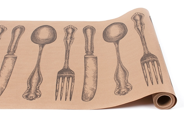 CUTLERY ON KRAFT RUNNER $27