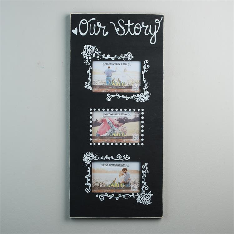 OUR STORY' 3 PICTURE FRAME $52