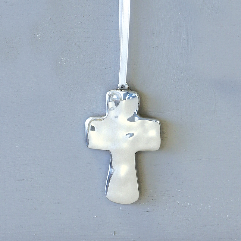 ATHENS CROSS ORNAMENT $20