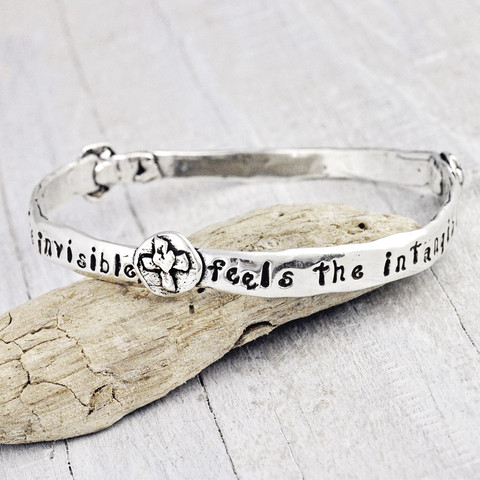 'FAITH SEES' BANGLE BRACELET $48