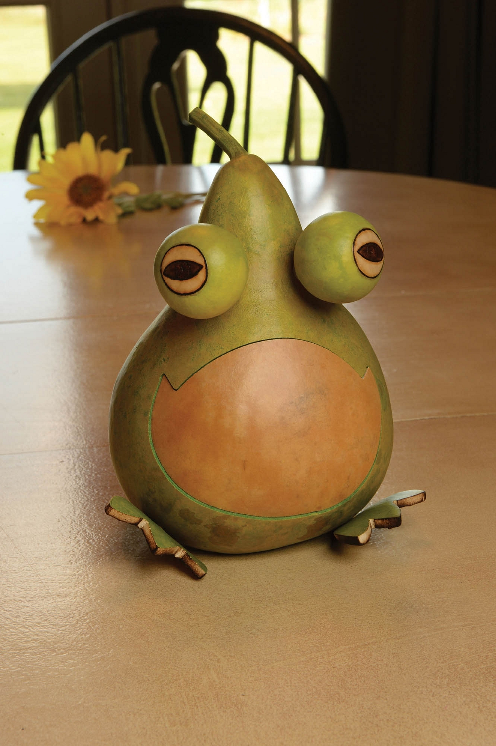 JESSE THE FROG PAINTED GOURD $38