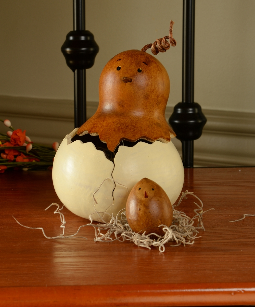 HEN FLORA WITH BABY CHICK $29