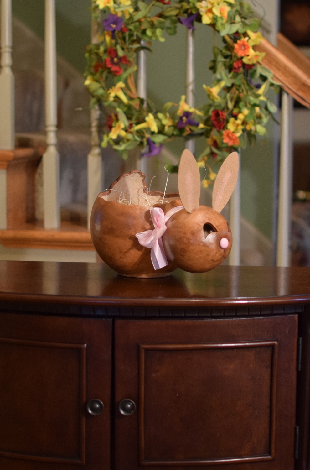 ASHLEY BUNNY BASKET - LARGE $46
