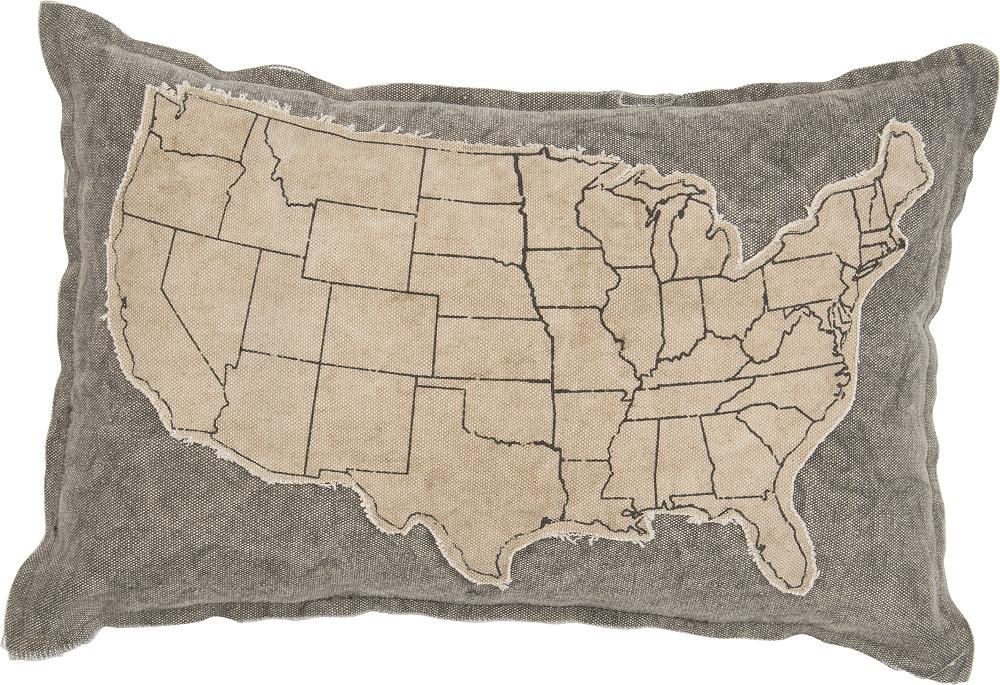 USA MAP DECORATIVE PILLOW $26
