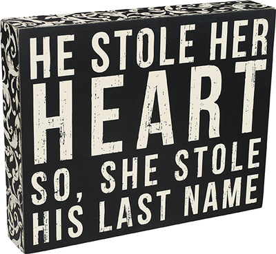 'LAST NAME' BOX SIGN  $22