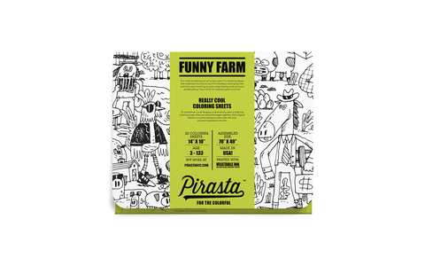 FUNNY FARM COLORING PLACEMAT  $20