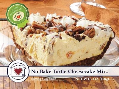No-Bake Turtle Cheesecake Mix   $ 7.50