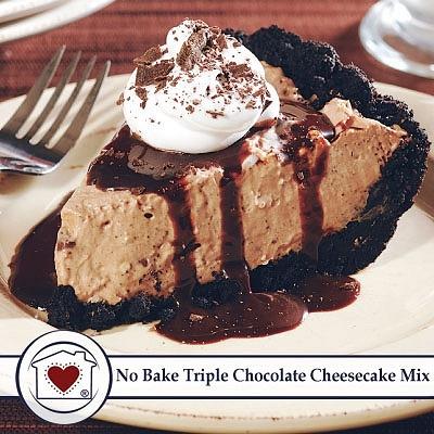 No-Bake Triple Chocolate Cheesecake Mix  $ 7.50