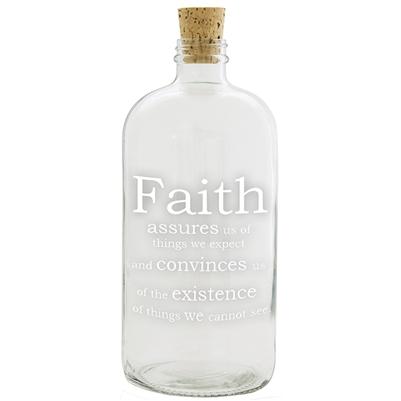 Faith Apothecary Jar  $28