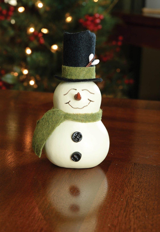 """Small Snowman Gourd   $18  (5.5"""" Tall)"""
