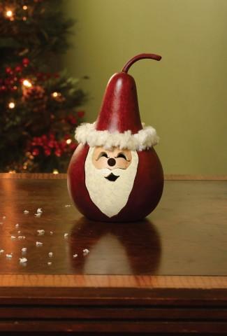 """Santa Small Gourd   $25  (5"""" Tall)"""