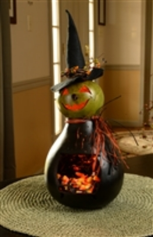 Fiona the Witch Painted Gourd          $56