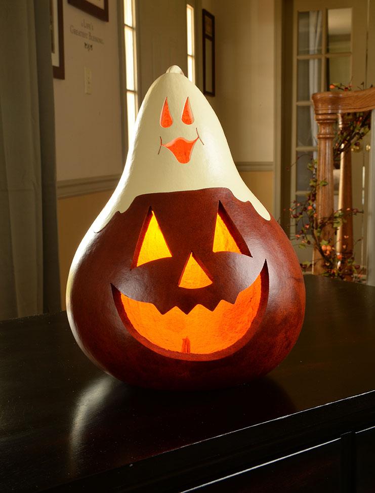 Casper Jack Painted Gourd     $65
