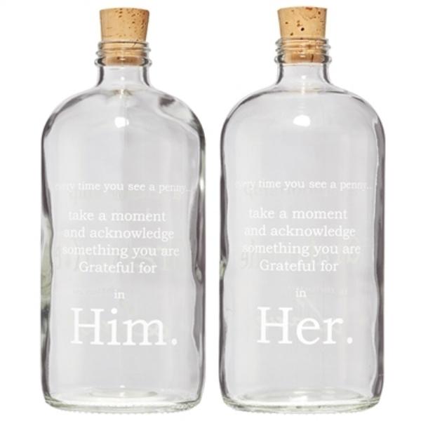 HIM/HER APOTHECARY JAR $46