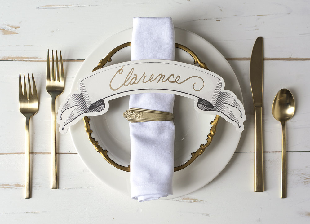 BLACK TABLE BANNERS $14