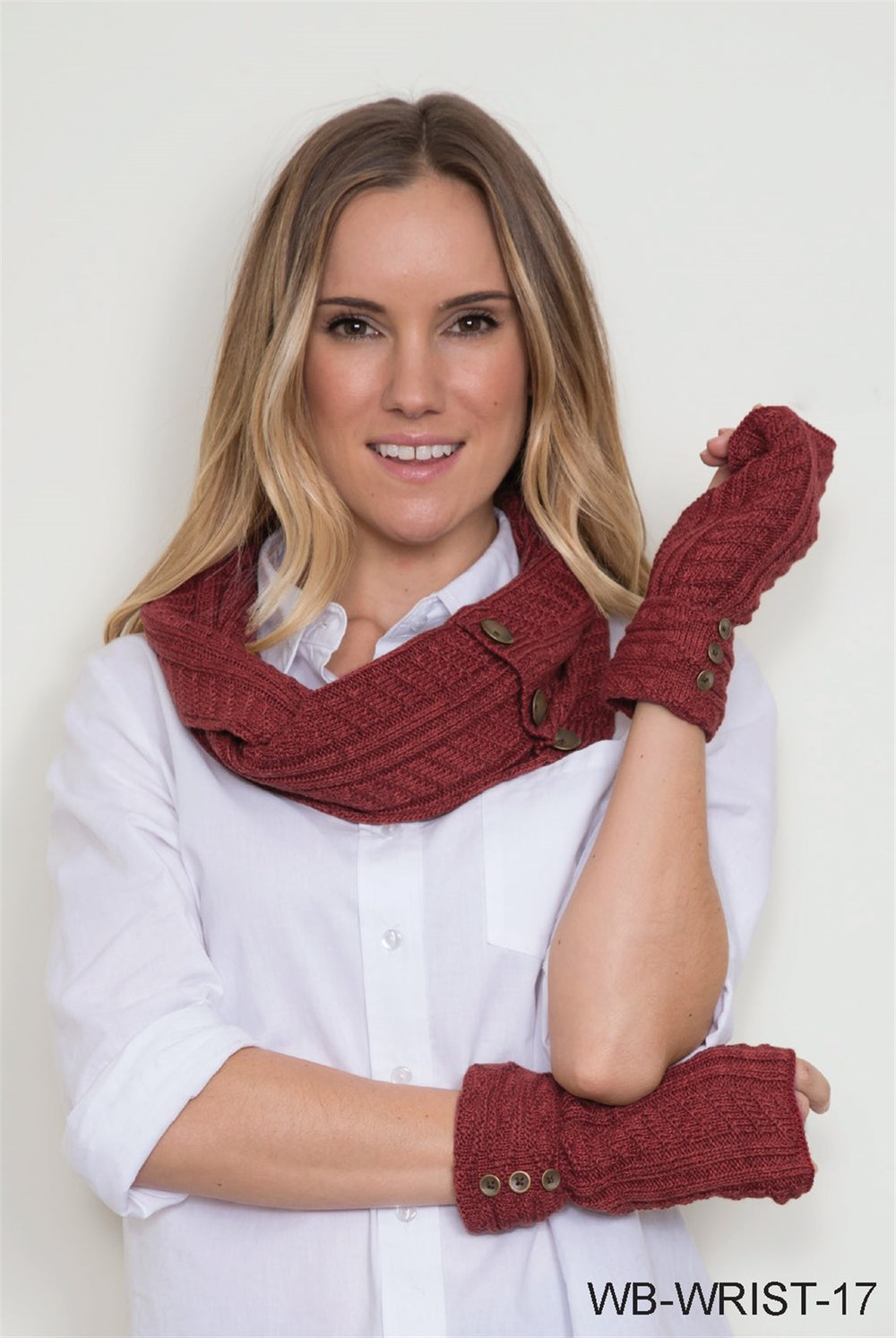 Cable Infinity Scarf and Wrist Warmer