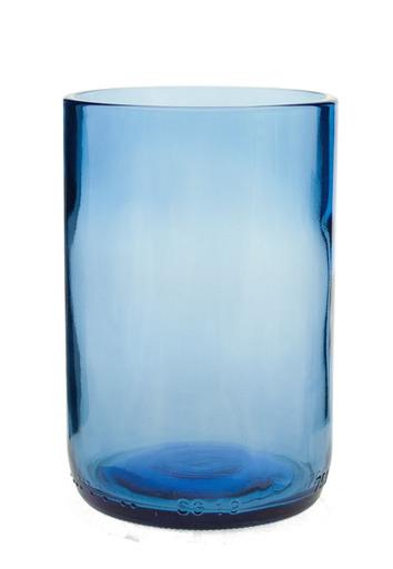 UPCYCLED AQUAMARINE GLASS TUMBER $10
