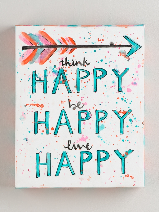 THINK HAPPY' CANVAS PRINT  $26