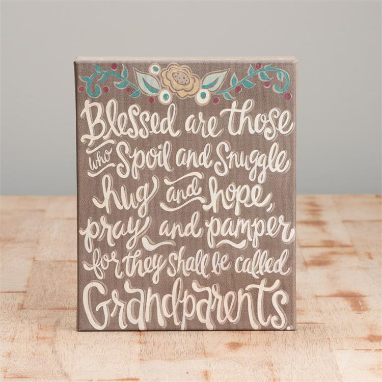THEY SHALL BE CALLED GRANPARENTS' TABLE TOP CANVAS PRINT $22