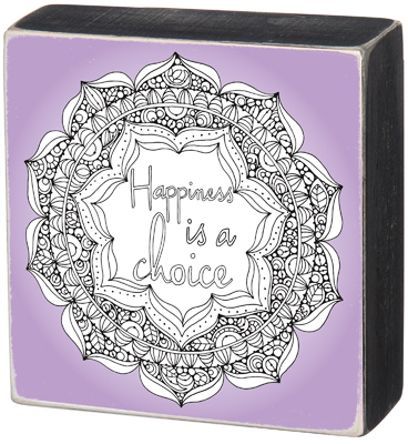 'HAPPINESS' COLOR BOX SIGN $20