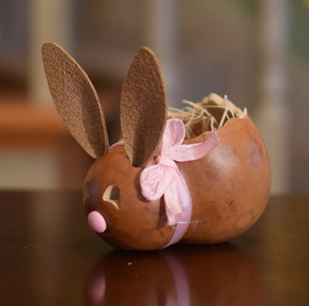 ASHLEY BUNNY BASKET - SMALL  $19