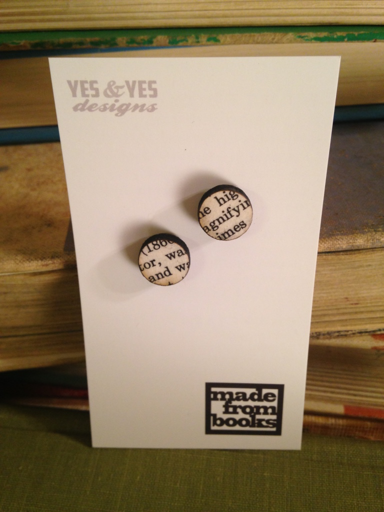 SMALL ROUND TEXT STUD EARRINGS   $20 SALE $15