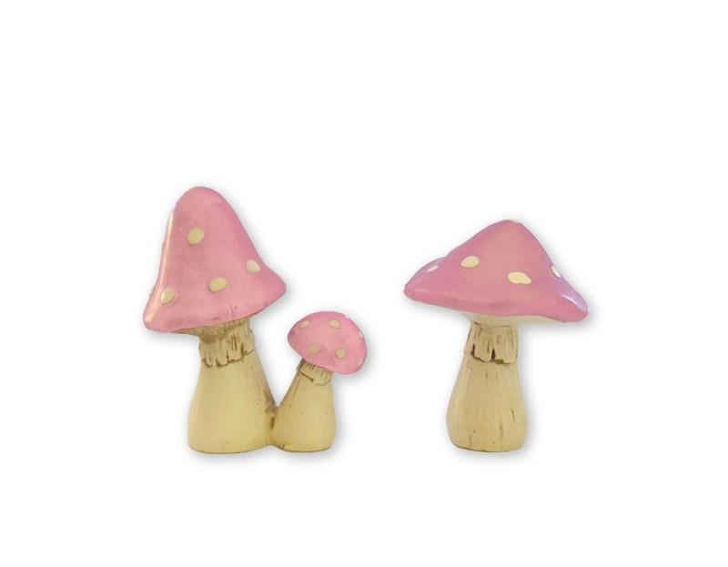 'LIL MUSHROOMS - PINK-TASTIC $11