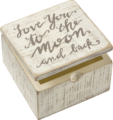 MOON AND BACK SLAT BOX SIGN  $12