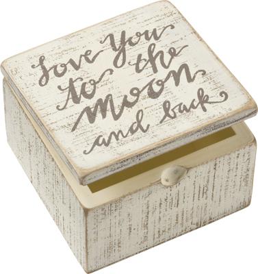 MOON AND BACK SLAT BOX SIGN $12