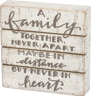A FAMILY SLAT BOX SIGN $17