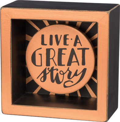 GREAT STORY BOX SIGN  $12