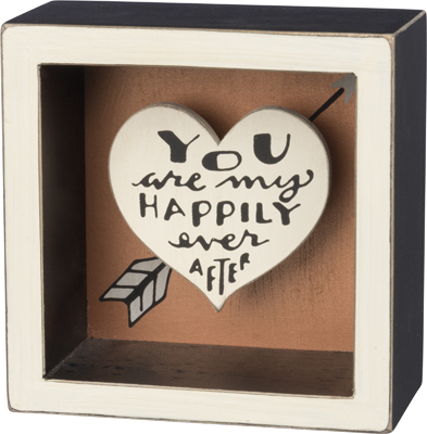 HAPPILY EVER AFTER BOX SIGN  $12