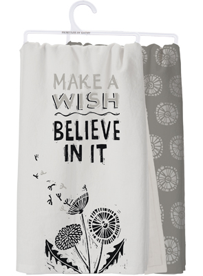 MAKE A WISH DISH TOWEL  $18