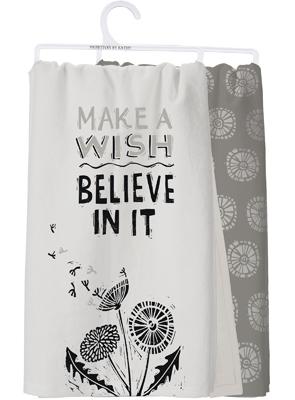 MAKE A WISH DISH TOWEL $18