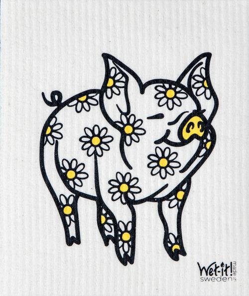 Daisy Pig Swedish Cloth $6