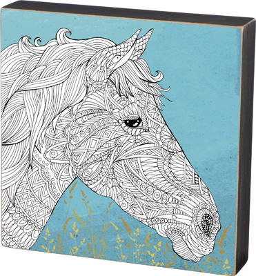 B  'HORSE' COLORING SIGN  $23