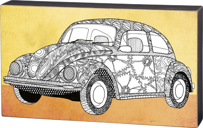 'VW BUG' COLORING SIGN  $28