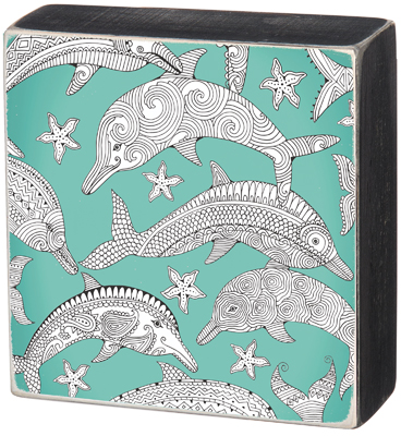 'DOLPHINS' COLORING SIGN  $18