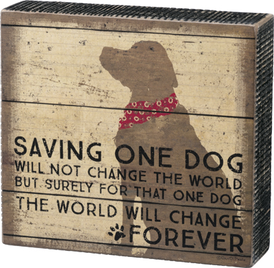 ONE DOG BOX SIGN  $17