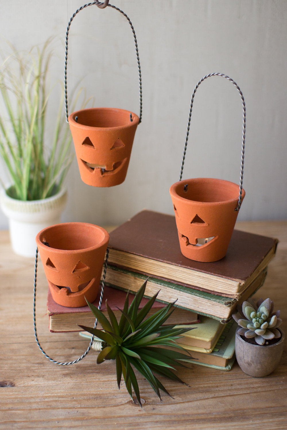 CLAY JACK-o-LANTERN BASKETS $14 each.