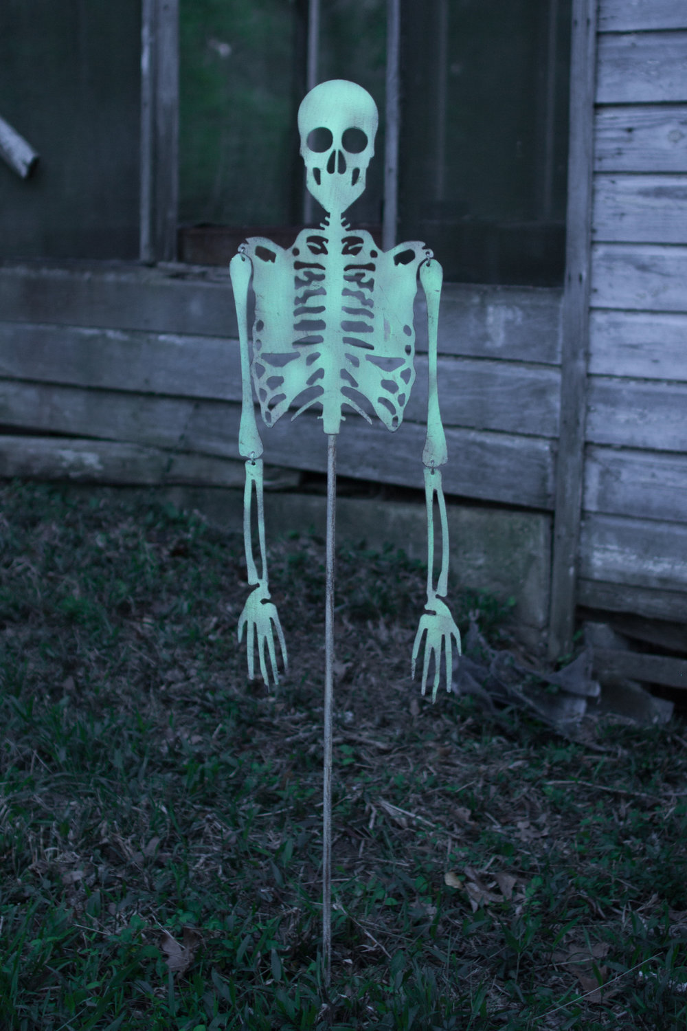 SKELETON YARD ART-GLOW IN THE DARK  $80