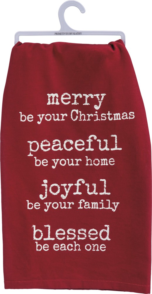 Merry Be Dish Towel $10