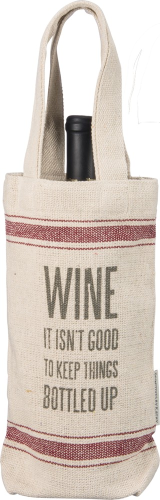 Bottled Up Wine Tote $9