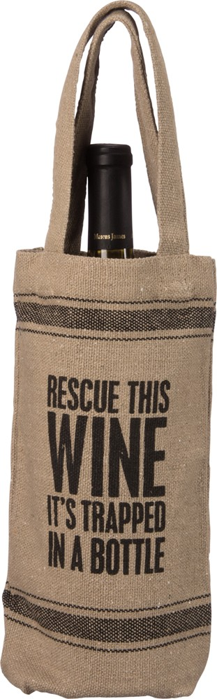 'Rescue This Wine' Wine Tote $9